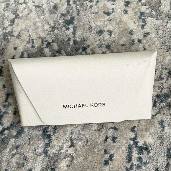 Michael Kors sunglasses case white color